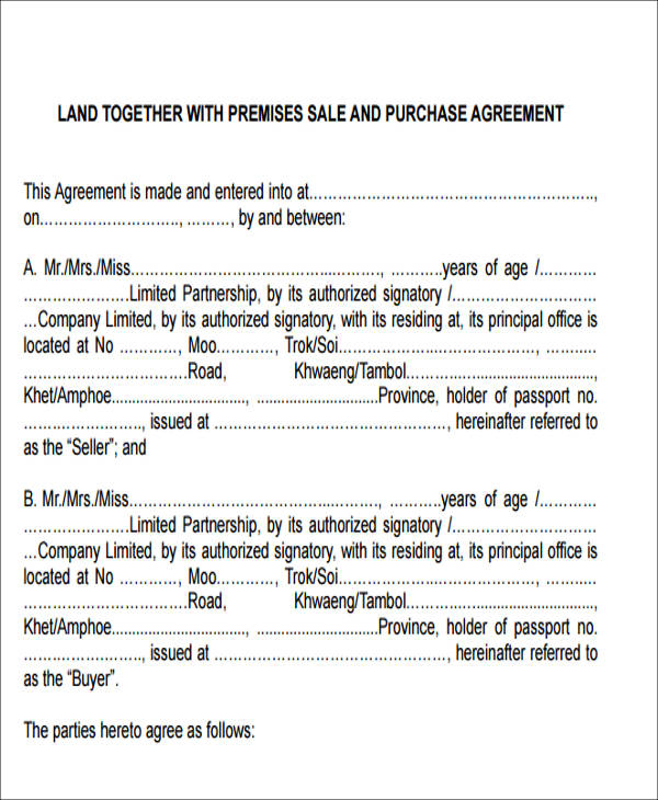 land sales agreement form2