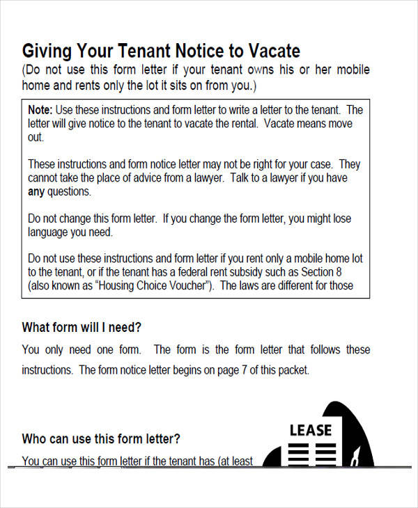 landlord notice to vacate form2