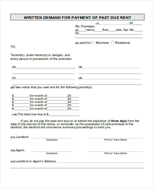 late rent payment notice form2