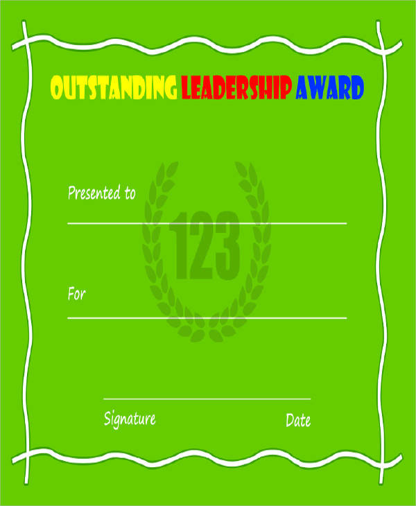 leadership excellence award certificate1