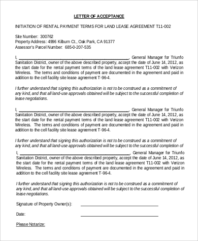 lease agreement acceptance letter1