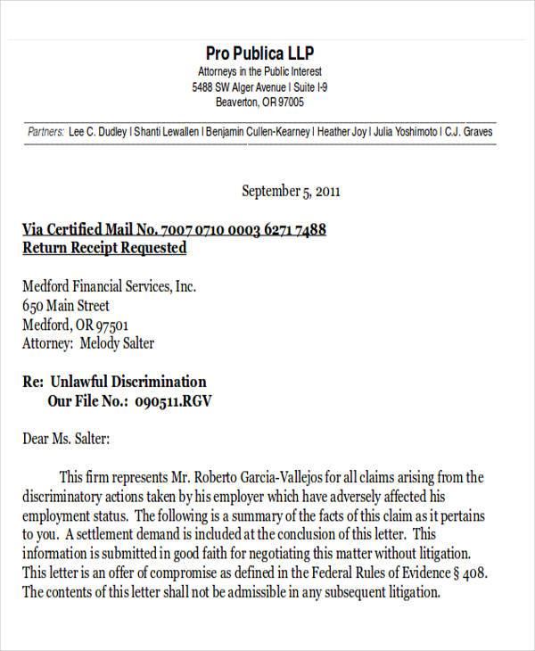 Final Legal Demand Letter