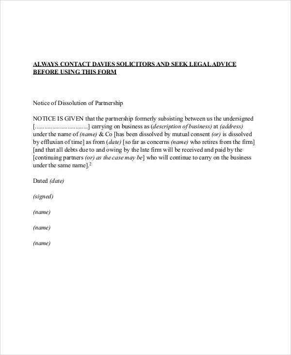 letter regarding the termination of the business partnership2