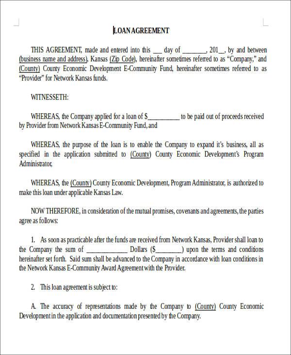 loan agreement form1