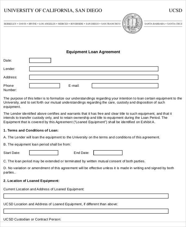 loan of equipment agreement1