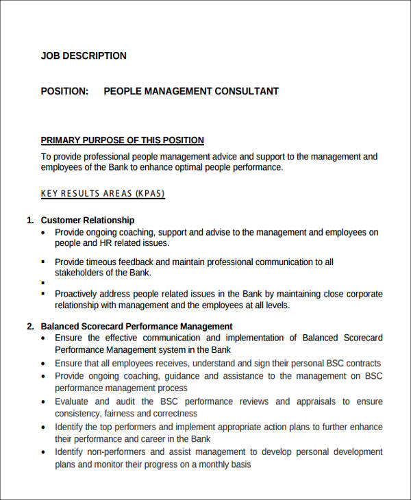 management consultant job description