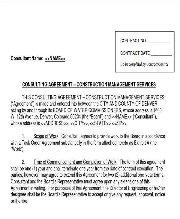 management services consulting agreement