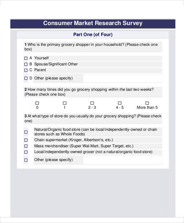 market research survey form