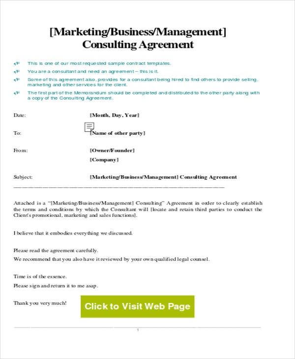 marketing business consulting agreement