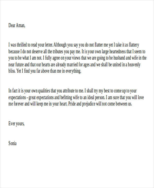 letter about marriage