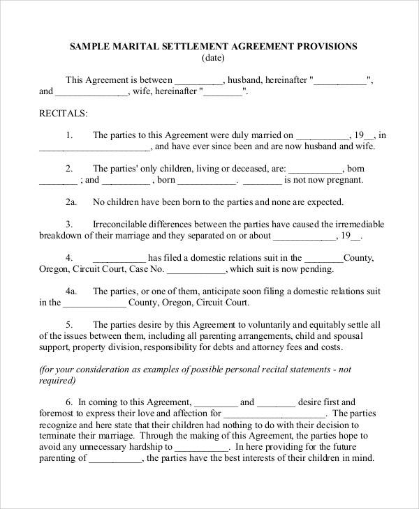 58 Printable Agreement Samples Sample Templates