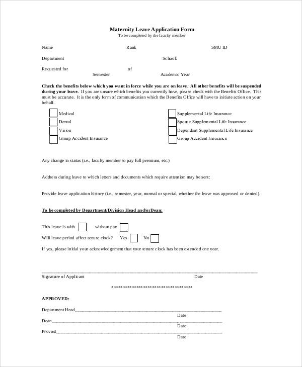 maternity leave application form1