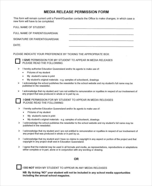 media release permission form1