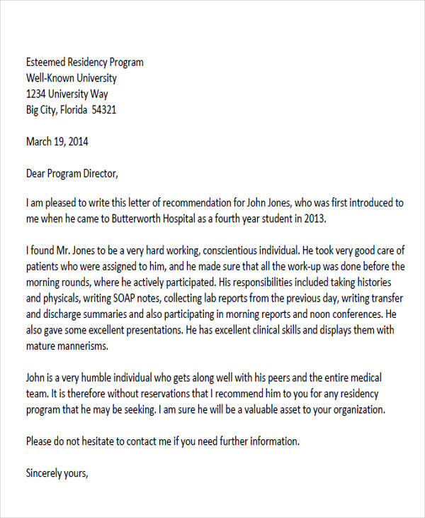 personal reference letter template word