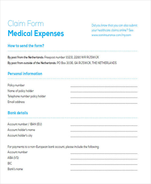 medical expenses claim form3