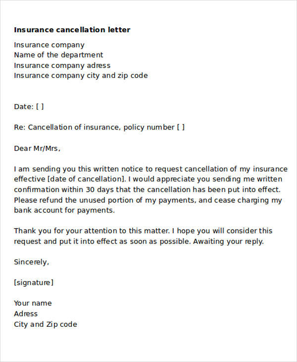 Sample insurance cancellation letter lovetoknow oukasfo sample insurance cancellation letter ampminsure spiritdancerdesigns Image collections