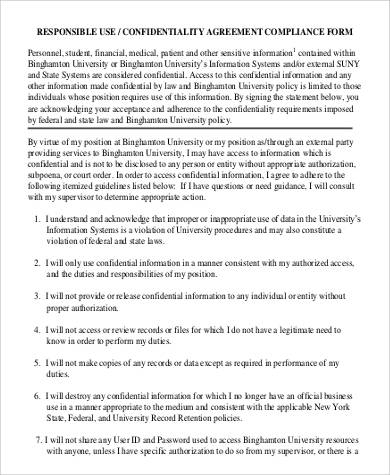 medical patient confidentiality agreement
