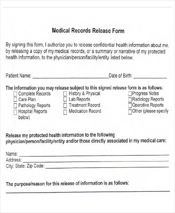 medical records release form2