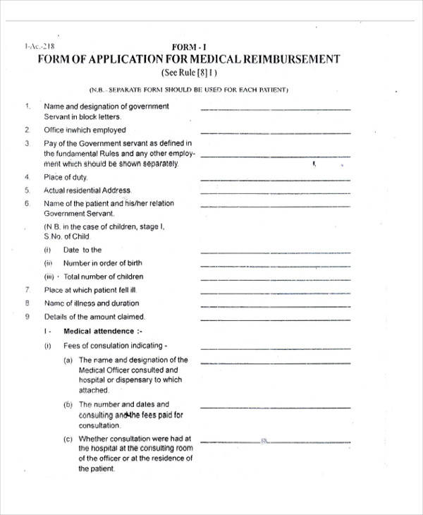Medical Forms in PDF – Medical Consultation Form