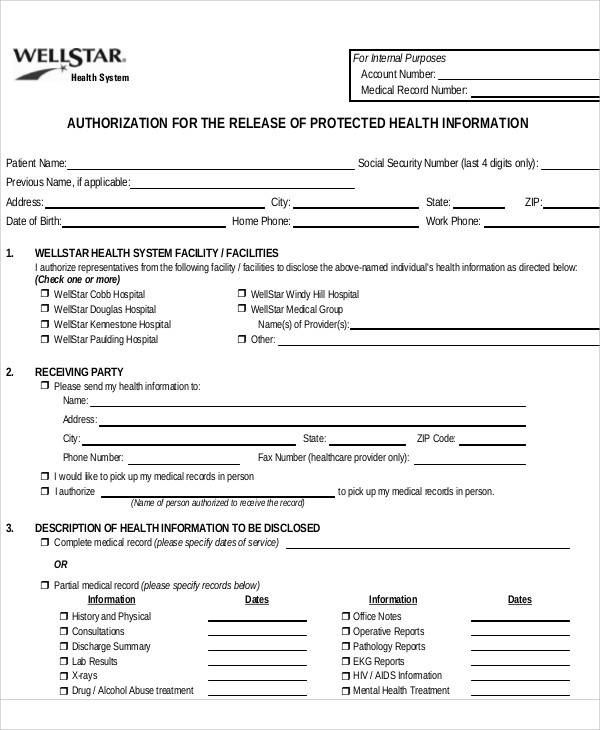 medical release authorization form1