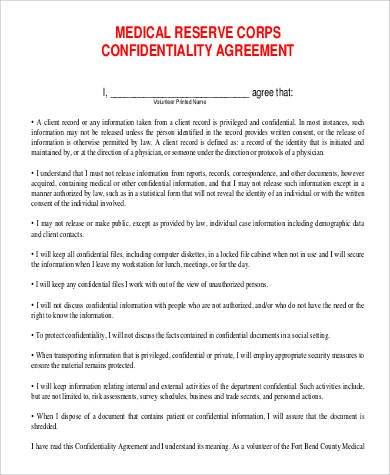 33 confidentiality agreement forms sample templates. Black Bedroom Furniture Sets. Home Design Ideas