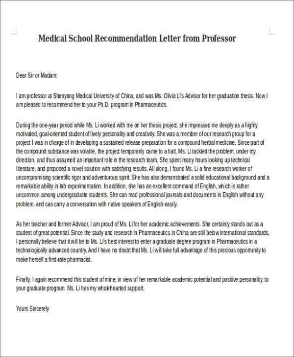 Reference letter medical school medical school letter shadowing letter of recommendation altavistaventures Image collections