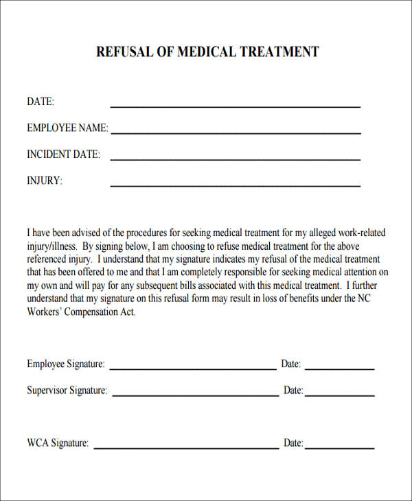 medical treatment refusal form1