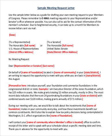 Sample request letter meeting request letter format spiritdancerdesigns Images
