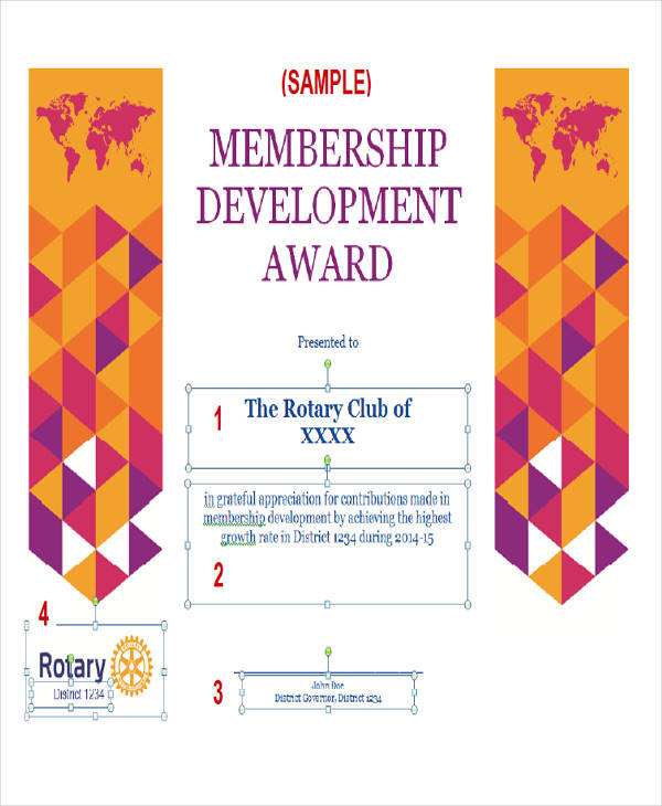 membership development award certificate1