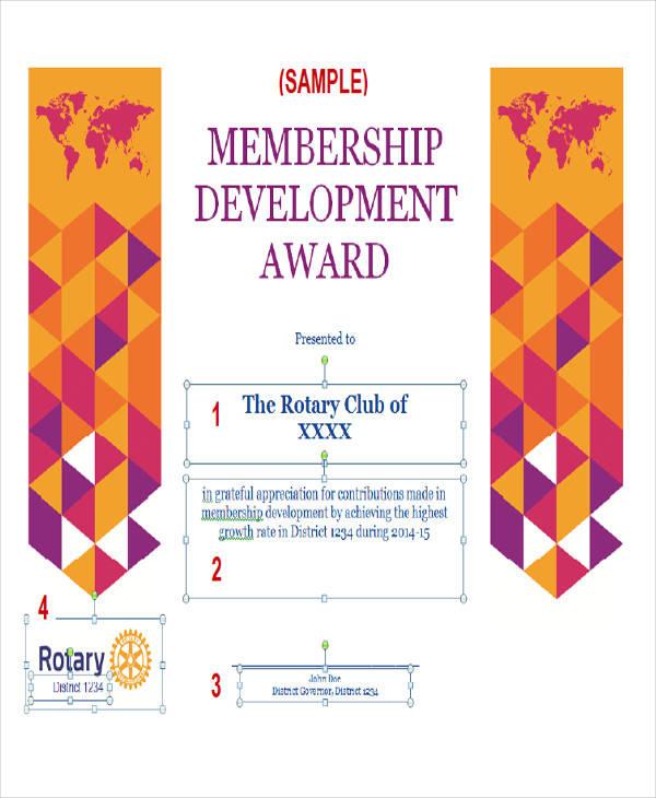 membership development award certificate1