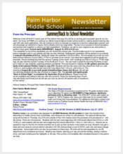middle-school-newsletter-sample