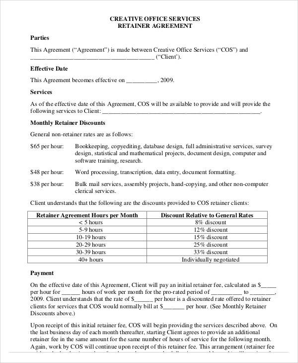 consulting retainer agreement templates - 40 consulting agreement samples sample templates