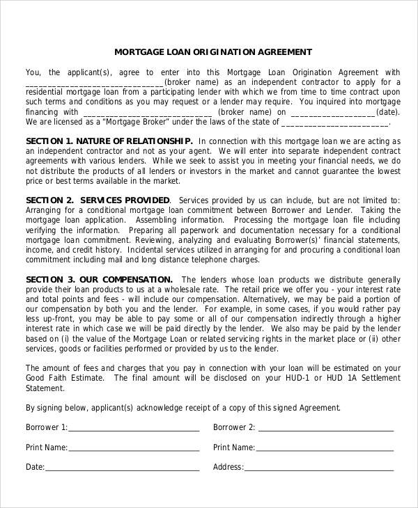 Printable Agreement Samples