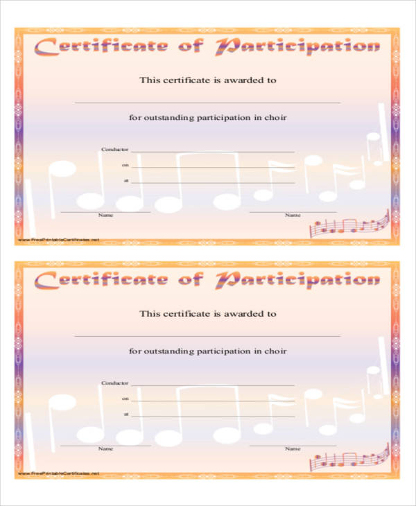 music performance certificate