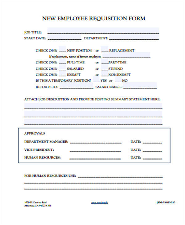 40 sample requisition forms in pdf sample templates new employee requisition form1 thecheapjerseys Choice Image