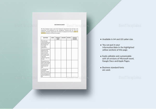 new employee survey template1