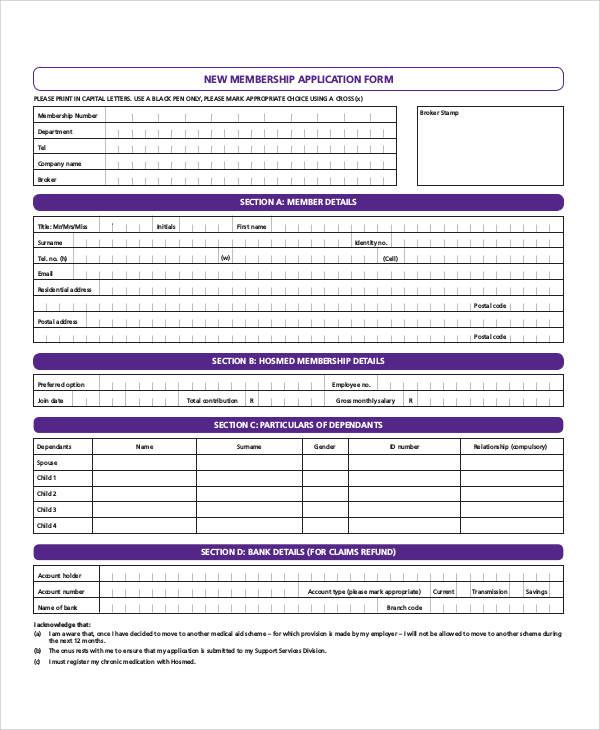 new membership application form1