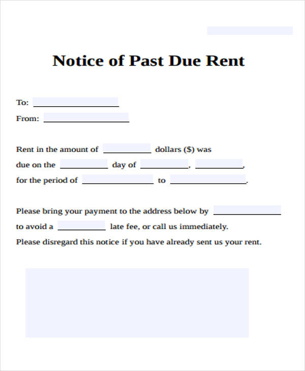 notice of past due rent