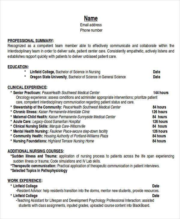6  example resume objective