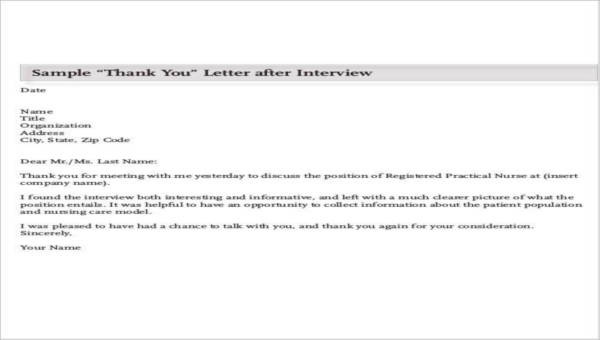 Nursing Thank You Letter Sample 10 Examples In Word Pdf