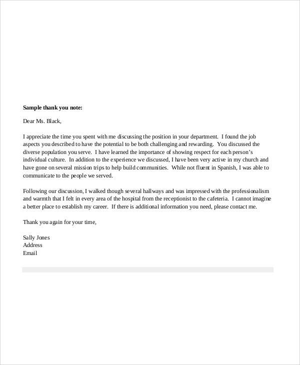 nursing thank you letter after job offer