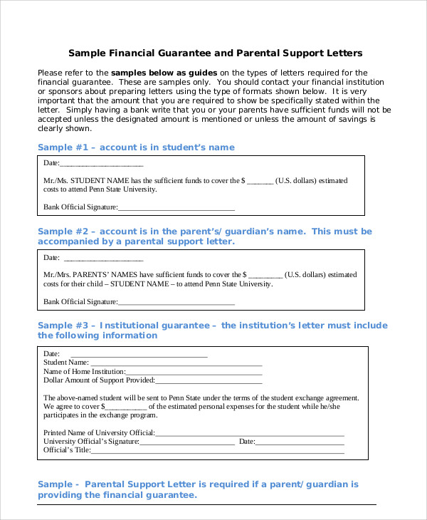 parent financial guarantee letter1