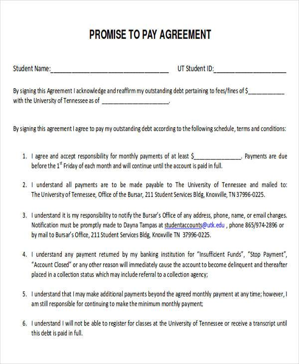 payment agreement contract