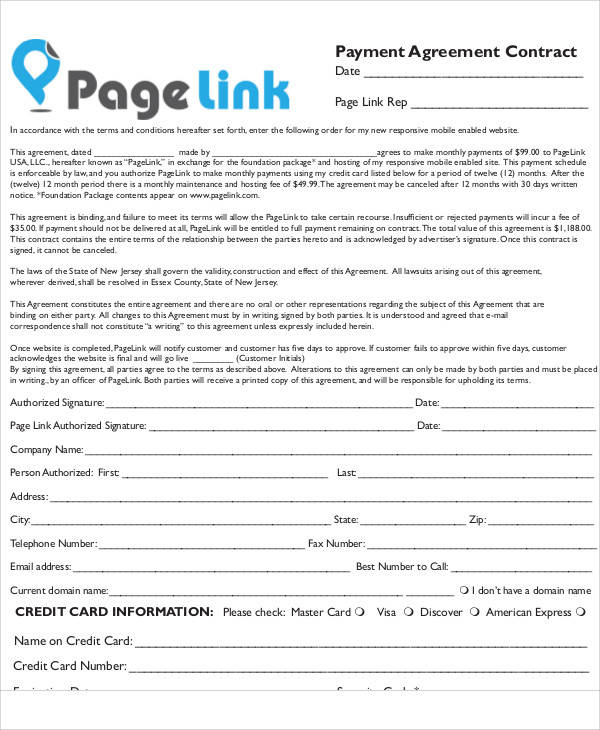 payment agreement contract1