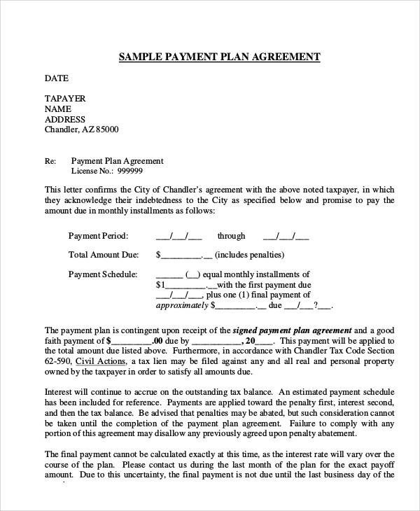 Agreement Letter Examples – Good Faith Payment Letter