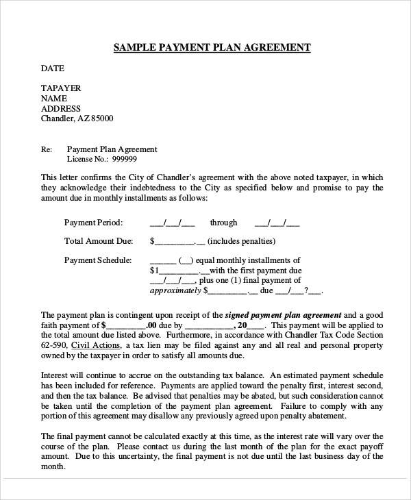 58 Printable Agreement Samples