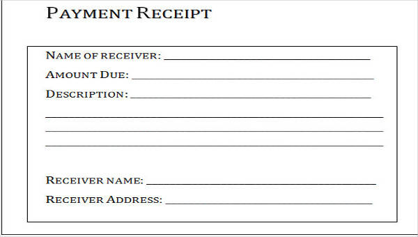 23 payment receipt formats sample templates