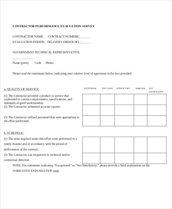 Survey Form in PDF