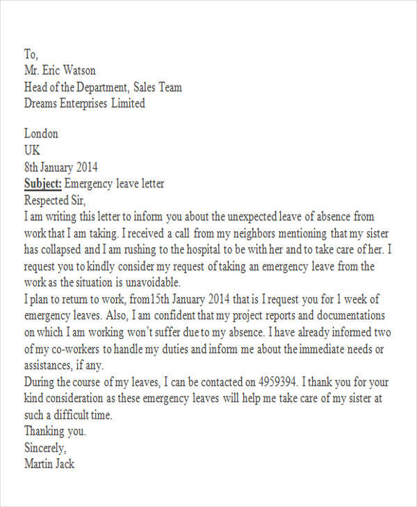 Emergency holiday request letter pasoevolist emergency holiday request letter altavistaventures Images