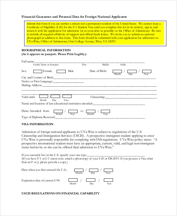 Agreement Letter Of Guarantee   Images  Fabulous Standard